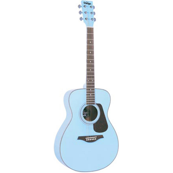 Vintage V300 Acoustic Guitar Baby Blue