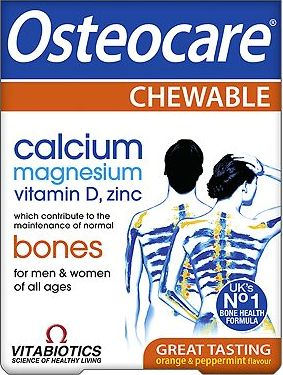 Vitabiotics, 2041[^]10066134 Osteocare Chewable Tablets with sweetener - 30