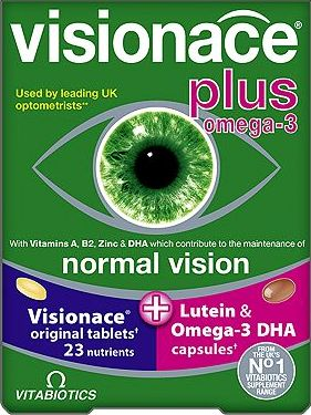 Vitabiotics, 2041[^]10072508 Visionace Plus Omega-3 Dual Pack 56