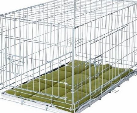 VivaPet Foldable Dog Crate Cage with Bedding, 36-Inch,Sliver Galvanized Anti-Rust