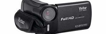 Vivitar DVR 638HD Camcorder - Black (2`` LCD Screen, 4x Digital Zoom, Image Stabilisation, Auto-Focus)