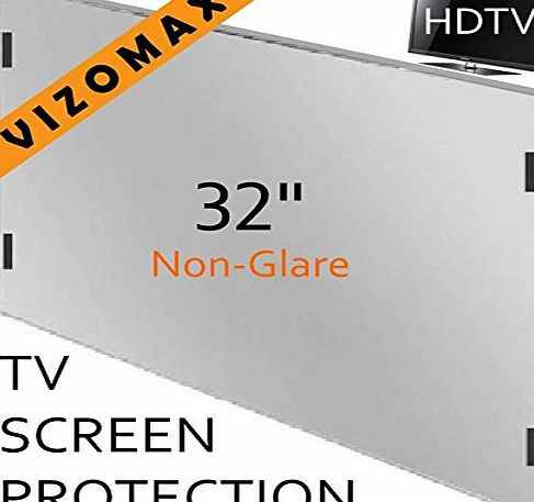 Vizomax 32 inch Non-Glare Vizomax TV Screen Protector for LCD, LED amp; Plasma HDTV (32 inch)
