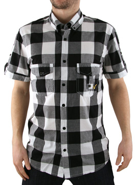 Voi Jeans Black/White New Johnson Checked Shirt product image