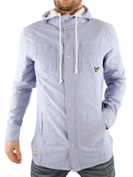 Voi Jeans Blue Ollie Chambray Hooded Shirt product image