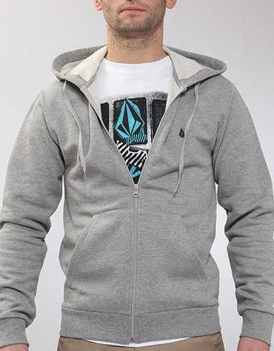 Icon Slim Zip hoody - Heather Grey