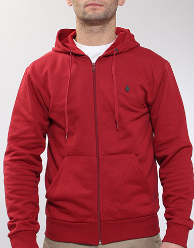 Icon Slim Zip hoody - Lumber Jack Red