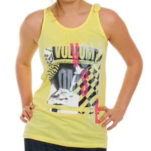Volcom Ladies Fun Parts Tank Top - Yellow