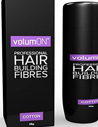 VolumON  Professional Hair Building Fibres- Hair Loss Concealer- COTTON- 28g- Get Upto 30 Uses- CHOOSE FROM 8 HAIR SHADES COLOURS (Medium Brown)