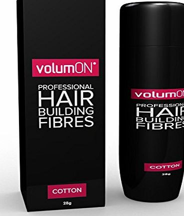 VolumON  Professional Hair Building Fibres- Hair Loss Concealer- KERATIN- BLACK 28g- Get Upto 30 Uses