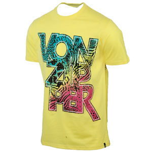 Vonzipper Mens Mens Vonzipper Safari T-Shirt. Yellow Cream product image