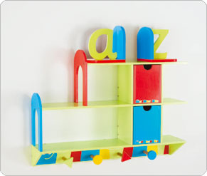 Alphabet Bookshelf - Blue