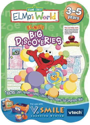 Smile Educational Toys : V smile learning game elmos big discoveries