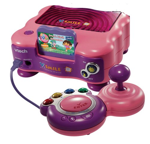 VTech V.Smile Pink TV Learning System & Dora The Explorer