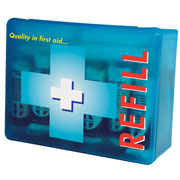 A refill pack for your 10 person Mezzo first aid dispenser. Includes all the dressings that fit the Mezzo dispenser. Staples recommend checking your first aid kit box or dispenser regularly to ensure that products are available. These products are HS - CLICK FOR MORE INFORMATION