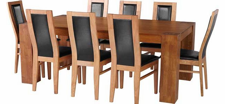 warwick oak dining tables : warwick oak dining table and 8 black chairs from www.comparestoreprices.co.uk size 722 x 334 jpeg 34kB