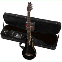 Washburn Rover RO10 Traveller Acoustic Guitar Black:The ultimate travel guitar! Play it any time or any place. - CLICK FOR MORE INFORMATION