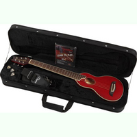 Washburn Rover RO10 Traveller Acoustic Guitar Red:The ultimate travel guitar! Play it any time or any place. - CLICK FOR MORE INFORMATION