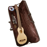 The ultimate travel guitar! Play it any time or any place. Bring your Washburn Rover with you when youre... on a plane a boat a car the beach camping hiking... Anywhere! Comes complete with case instructional CD ROM strap and 3 picks. - CLICK FOR MORE INFORMATION