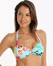 Watercult, 1295[^]272403 Botanical Beach Halter Top - Aqua