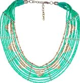 Watercult, 1295[^]270518 Necklace - Mint Gold