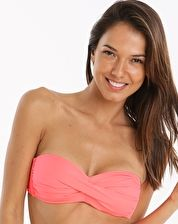 Watercult, 1295[^]270608 Summer Solids Twist Bandeau Top - Coral