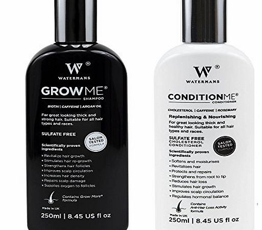 Watermans Hair Growth Shampoo and Conditioner by Watermans - Combo Pack - Best Hair Growth System