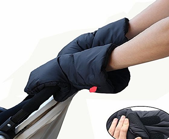 Welkey Pram Hand Muff - Pushchair Gloves -Golf trolley Gloves- Baby Carriage Hand Cover -Welkey Waterproof Anti-freeze Extra Thick Warm Winter Stroller Accessories