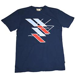 WESC Blocks & Lines T-Shirt - Blue Depth product image