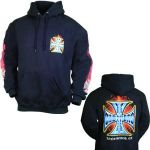 Coast Choppers Flame and cross hoodie - CLICK FOR MORE INFORMATION