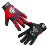 Coast Choppers red pay up sucker riding gloves - CLICK FOR MORE INFORMATION