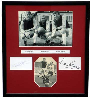 Ham presentation signed by Moore Hurst and Peters - CLICK FOR MORE INFORMATION