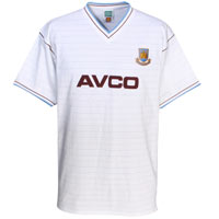 Ham United 1986 Avco Away Shirt - White. - CLICK FOR MORE INFORMATION