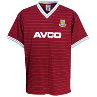 Ham United 1986 Avco Home Shirt - Claret. - CLICK FOR MORE INFORMATION