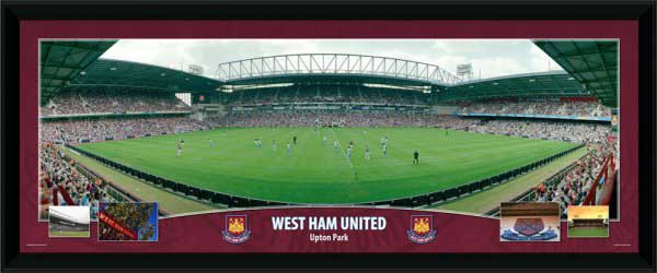 Ham United and#8211; Upton Park - Framed Panoramic Stadium Presentation - CLICK FOR MORE INFORMATION