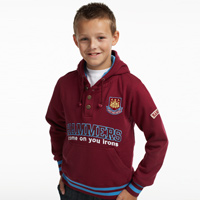 Ham United Applique Hoodie - Claret - Boys. - CLICK FOR MORE INFORMATION