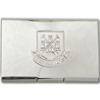 Ham United Embossed Chrome Credit Card - CLICK FOR MORE INFORMATION