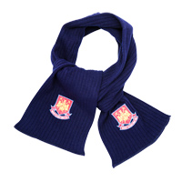 Ham United Embroidered Scarf - Navy. - CLICK FOR MORE INFORMATION