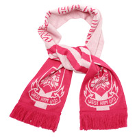 Ham United Jacquard Scarf - Pink. - CLICK FOR MORE INFORMATION