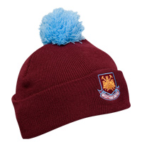 Ham United Knitted Bobble Hat - Claret. - CLICK FOR MORE INFORMATION