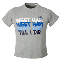 Ham United Paint Print T-Shirt - Grey Marl - CLICK FOR MORE INFORMATION