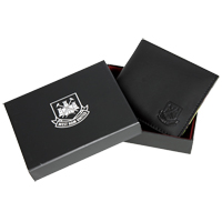 Ham United Stadium Leather Wallet - Black. - CLICK FOR MORE INFORMATION