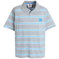 Ham United Stripe Polo - Grey Marl. - CLICK FOR MORE INFORMATION