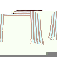 Ham United Striped Scarf - Claret/Sky. - CLICK FOR MORE INFORMATION