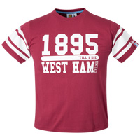 Ham United T-Shirt - Claret - Boys. - CLICK FOR MORE INFORMATION