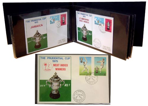 Indian postal covers commemorating the first Cricket World Cup in 1975