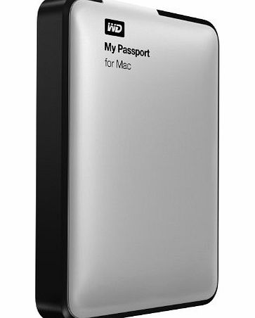 Western Digital WD My Passport 1TB USB 3.0 High Capacity Portable Hard Drive for Mac - Silver product image
