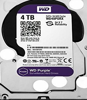 Western Digital WD Purple 4TB Surveillance Hard Disk Drive - Intellipower SATA 6 Gb/s 64MB Cache 3.5 Inch