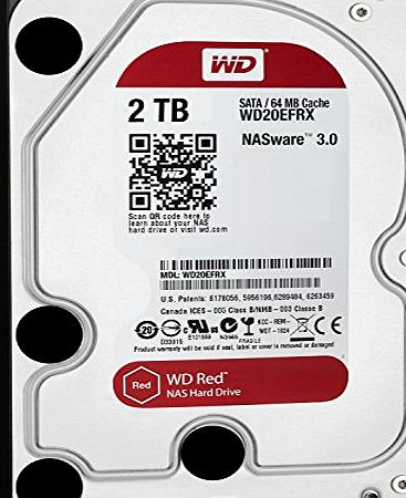 Western Digital WD Red 2TB NAS Desktop Hard Disk Drive - Intellipower SATA 6 Gb/s 64MB Cache 3.5 Inch