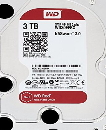 Western Digital WD Red 3TB NAS Desktop Hard Disk Drive - Intellipower SATA 6 Gb/s 64MB Cache 3.5 Inch
