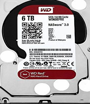 Western Digital WD Red 6TB NAS Desktop Hard Disk Drive - Intellipower SATA 6 Gb/s 64MB Cache 3.5 Inch
